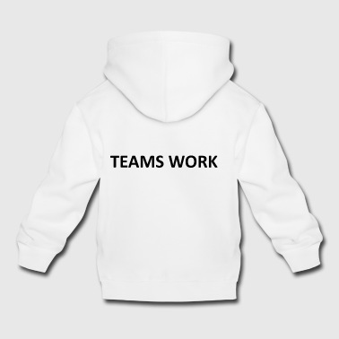 teams work black - Kids' Premium Hoodie