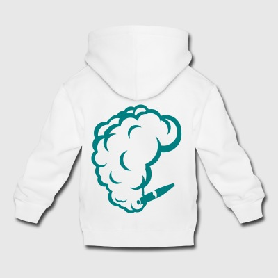 smoking cigar cigarette smoke drawing 1710 - Kids' Premium Hoodie