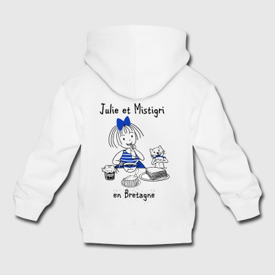 Julie and Mistigri in Brittany - Kids' Premium Hoodie