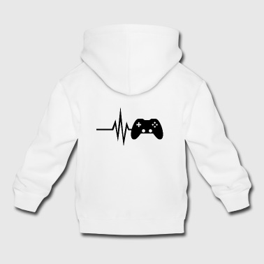 My heart beats for gaming - multiplayer esport - Kids' Premium Hoodie