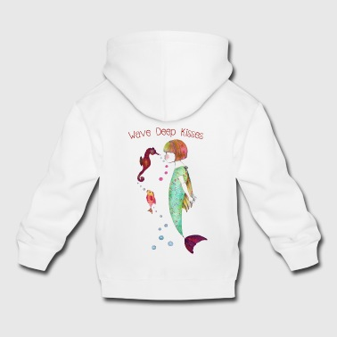 Wave Deep Kisses - Kids' Premium Hoodie
