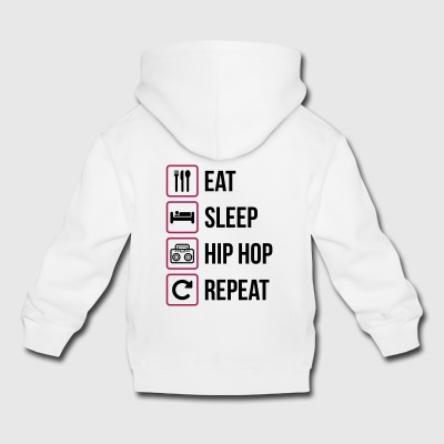 Eat Sleep Hip Hop Repeat - Kids' Premium Hoodie