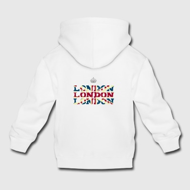 London England Union Jack brexit crown Queen trip - Kids' Premium Hoodie