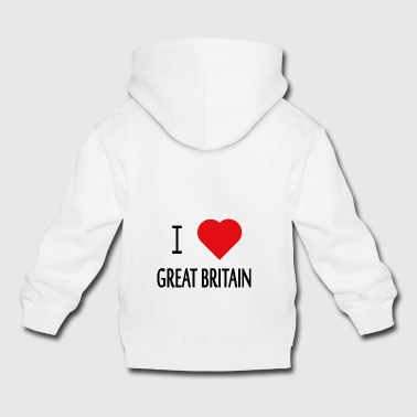 I Love Great Britain - Kids' Premium Hoodie