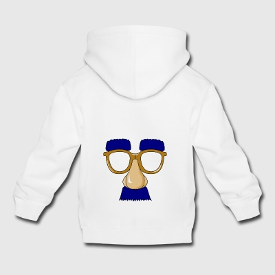 Glasses with mustache - Kids' Premium Hoodie