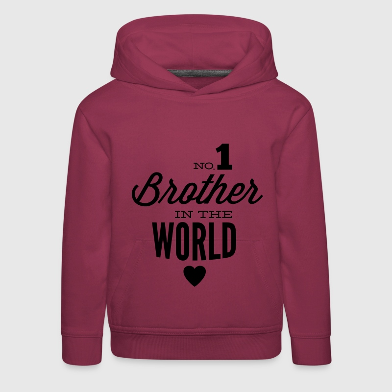 no1 brother of the world - Kinder Premium Hoodie