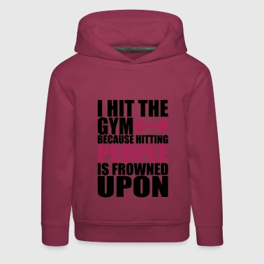 Hit The fitnes Gym t-shirt - Pull à capuche Premium Enfant