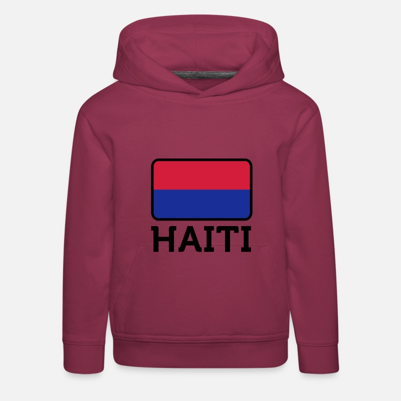 Haïti Sweat-shirts - Drapeau national d Haïti - Sweat à capuche premium Enfant bordeaux
