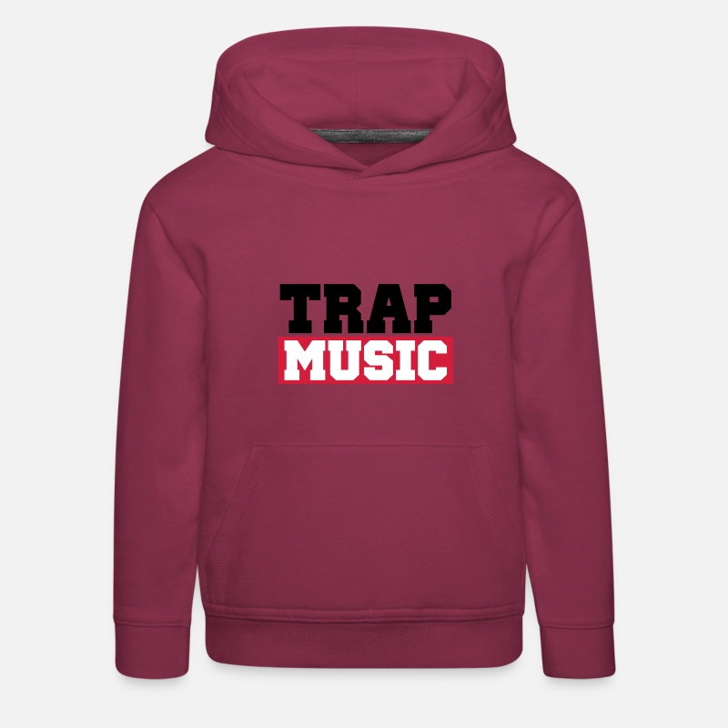 Club Felpe -  TRAP MUSIC - BASS PARTY - Hoodie premium per bambini rosso bordeaux