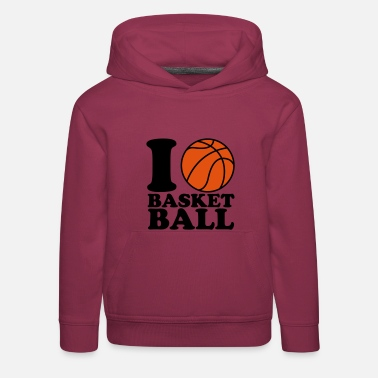 Sports I Love Basketball - Pull à capuche Premium Enfant
