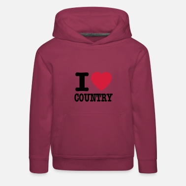 Country i love country / i heart country - Sudadera con capucha premium niño