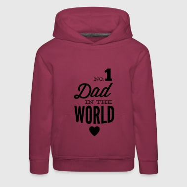 no1 dad of the world - Premium Barne-hettegenser