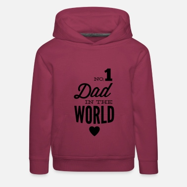 Verdens Beste no1 dad of the world - Premium Barne-hettegenser