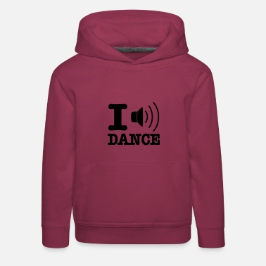 I Love Dance I speaker dance / I love dance - Bluza dziecięca z kapturem Premium