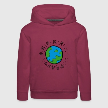 Earth's Ozone Layer Drawing - Kids' Premium Hoodie