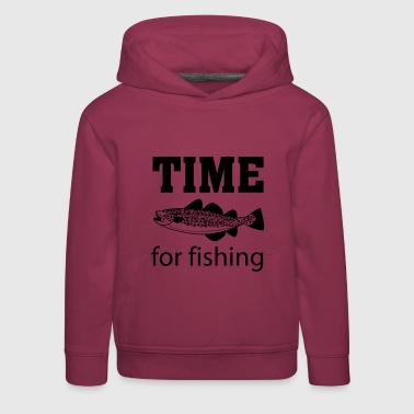 Time for fishing - Felpa con cappuccio Premium per bambini