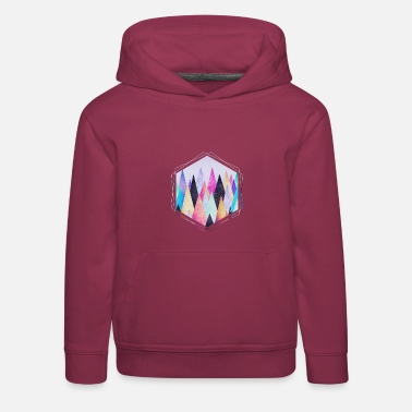 Hipster triangles (geometry) Abstract Mountains  - Pull à capuche Premium Enfant