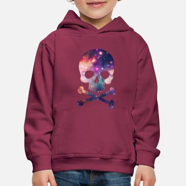 Pink / Purple Universe - Space - Galaxy Skull - Kids' Premium Hoodie