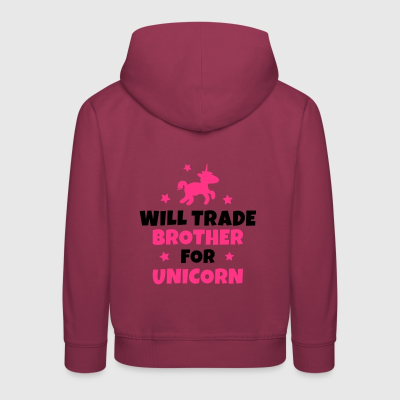 Will trade brother for unicorn - Kids' Premium Hoodie