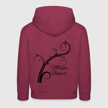 Magic Flower schwarz - Kinder Premium Hoodie