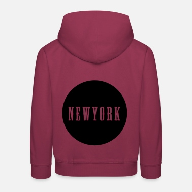 I Love New York New York Western Text Circle Cadeau - Pull à capuche Premium Enfant