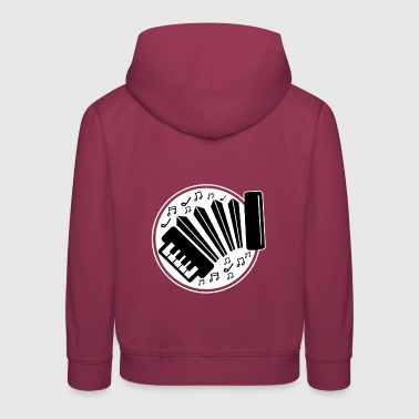 I love accordion music with the accordion - Kids' Premium Hoodie