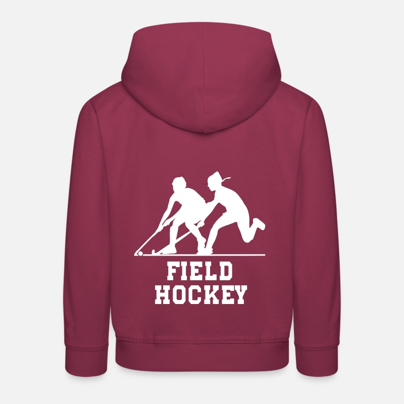Hockey Sur Gazon Sweat-shirts - Hockey sur gazon - Sweat à capuche premium Enfant bordeaux
