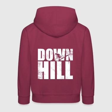 Downhill Bike Bike Jumps Slopestyle - Kids' Premium Hoodie