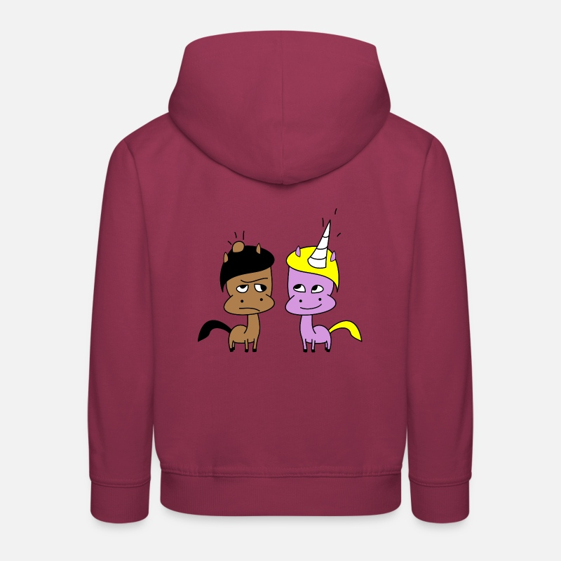 Animal Sweat-shirts - Lui et elle - Sweat à capuche premium Enfant bordeaux