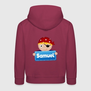 Little pirate Samuel - Kids' Premium Hoodie
