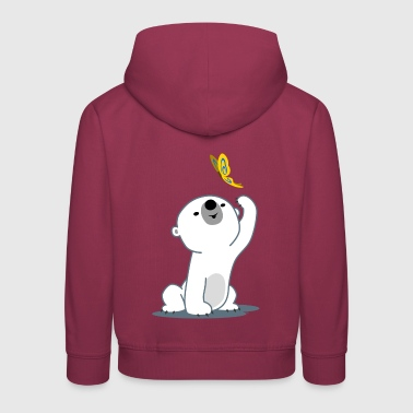Cute Cartoon Polar Bear Cub by Cheerful Madness!! - Kids' Premium Hoodie