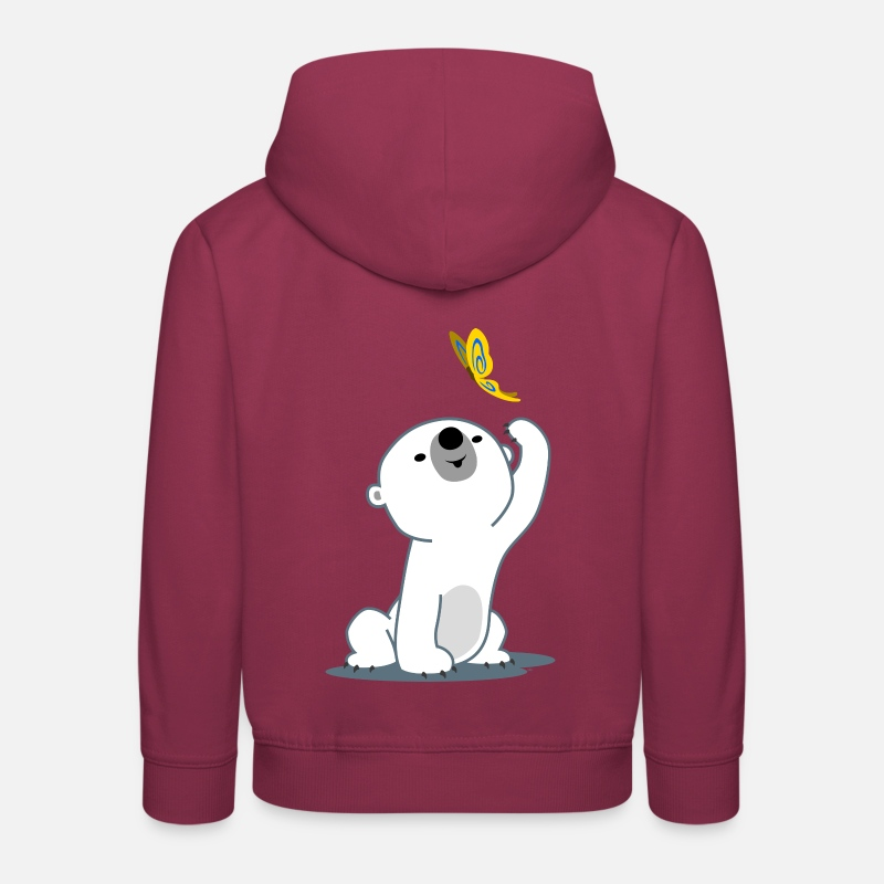 Bestsellers Q4 2018 Hoodies & Sweatshirts - Cute Cartoon Polar Bear Cub by Cheerful Madness!! - Kids' Premium Hoodie bordeaux