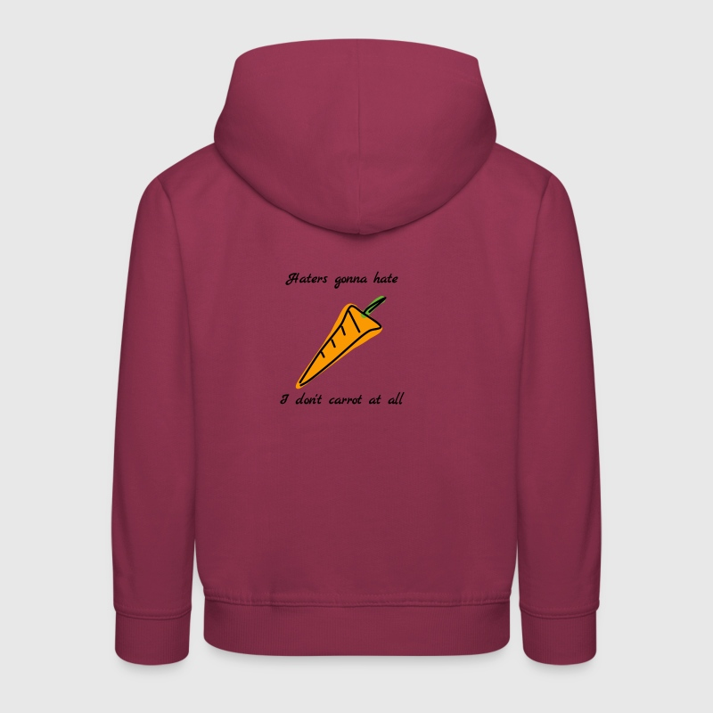 I don't carrot at all  - Kids' Premium Hoodie