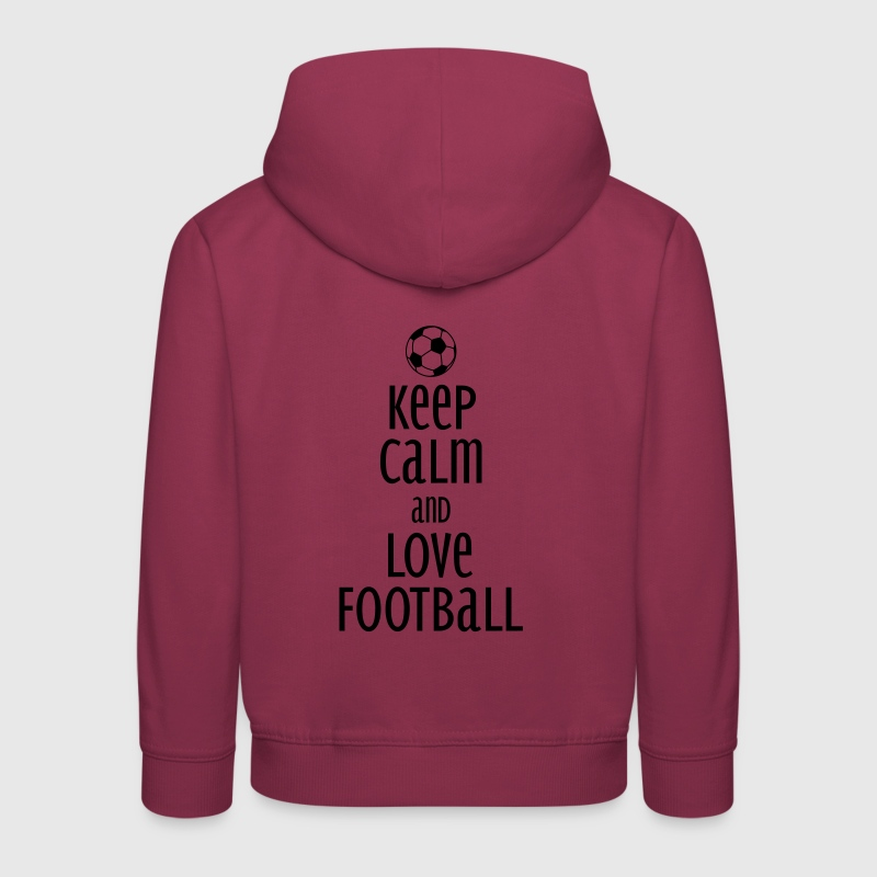 keep calm and love football - Kids' Premium Hoodie
