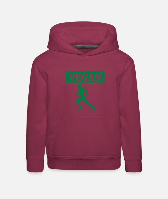Bless You Hoodies & Sweatshirts - Veganes Workout - Kids' Premium Hoodie bordeaux