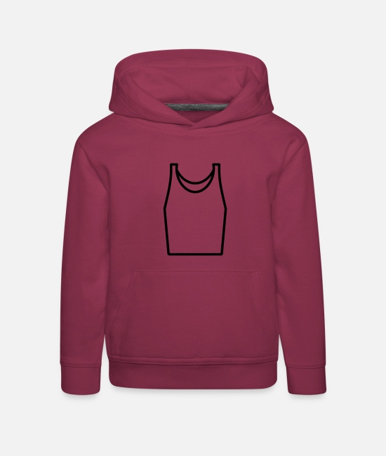 Drawing Hoodies & Sweatshirts - Vest - Kids' Premium Hoodie bordeaux