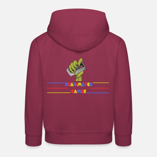 Stacked Hoodies & Sweatshirts - Logo Stack - Kids' Premium Hoodie bordeaux