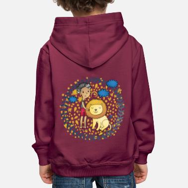Kinder &amp Löwe und Kinder beautiful Lion Kids - Kinder Premium Hoodie