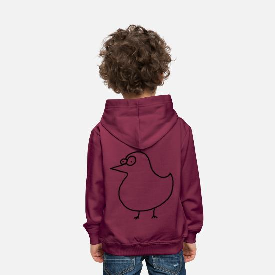 Animal Hoodies & Sweatshirts - Fat bird black - Kids' Premium Hoodie bordeaux