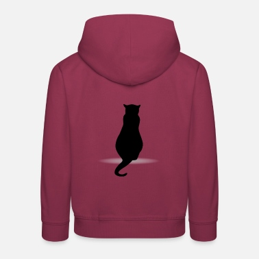 Silhouette Cat silhouette silhouettes - Kids' Premium Hoodie