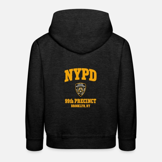 Brooklyn Hoodies & Sweatshirts - 99th Precinct Brooklyn NY - Kids' Premium Hoodie charcoal grey