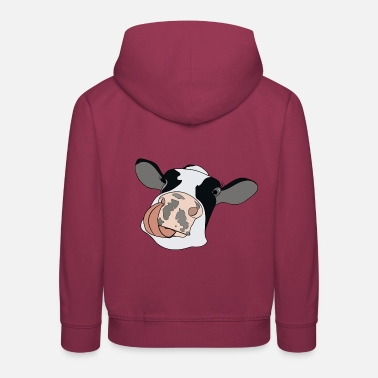 Nostrils Cow with tongue - Kids' Premium Hoodie