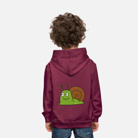 Nature Sweat-shirts - Escargot comique cadeau escargots animaux nature enfant - Sweat à capuche premium Enfant bordeaux