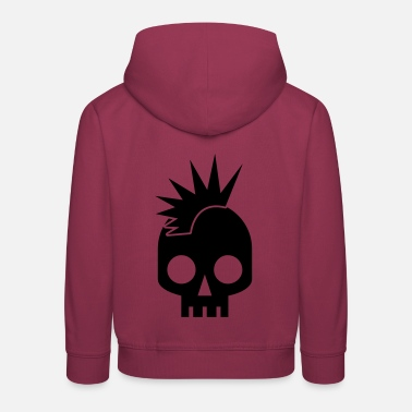 Mohawk PUNK BABY skull with mohawk - Kids' Premium Hoodie