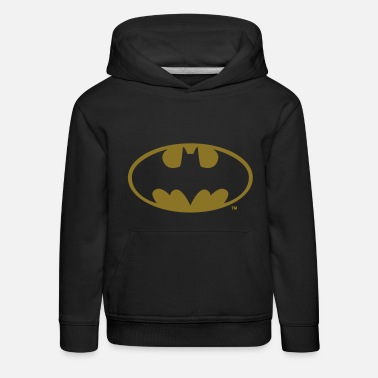 DC Comics Batman Logo in gold-metallic Optik - Kinder Premium Hoodie