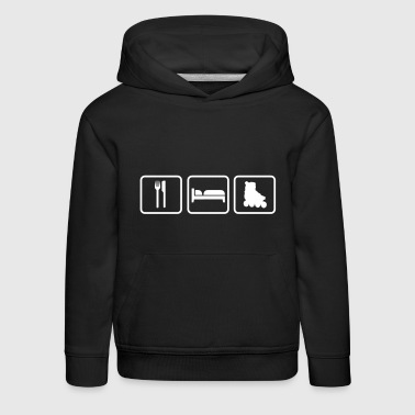 Eat Sleep Skating - Sudadera con capucha premium niño