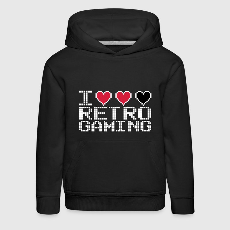 I Heart Retro Gaming Quote - Pull à capuche Premium Enfant