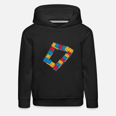 Cool optical illusion - endless steps - Kids' Premium Hoodie
