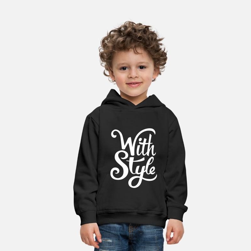 Bestsellers Q4 2018 Hoodies & Sweatshirts - With Style! Cool & Trendy Typography Design  - Kids' Premium Hoodie black