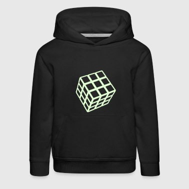 Rubik's Cube Glow In The Dark - Premium-Luvtröja barn